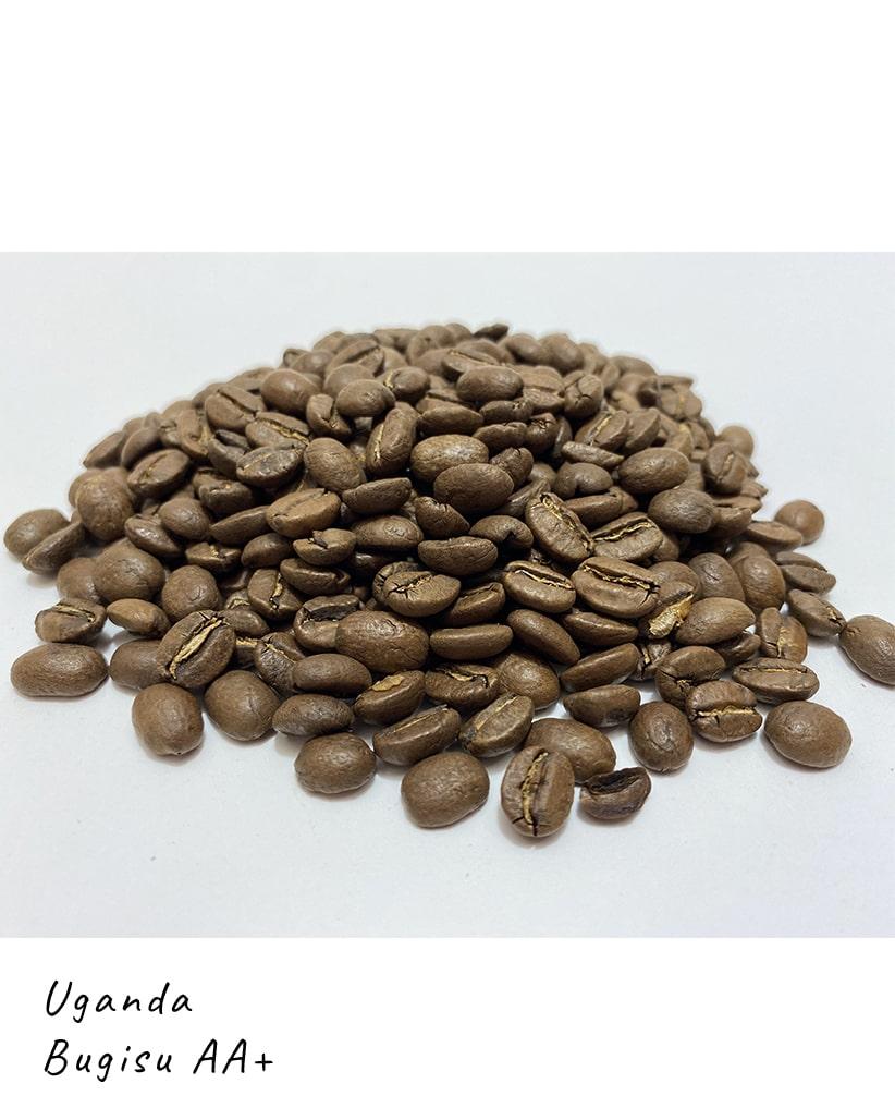 Свежеобжаренный кофе в зернах Уганда Бугису АА+