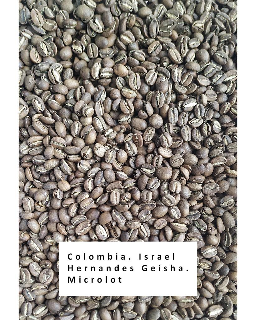 Свежеобжаренный кофе в зернах Колумбия Гейша Исраэль Эрнандес Микролот
